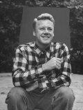Actor Van Johnson at Home Outdoors Premium Photographic Print by Bob Landry