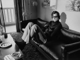 Date Unknownauthor Michael Crichton Relaxing at Home on Couch Premium Photographic Print by Ralph Crane