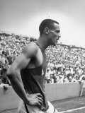 Athlete Mal Whitfield Cooling Down after a Race During the Olympic Tryouts Premium Photographic Print by Ed Clark