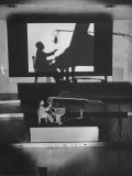"Pianist Artur Rubinstein Playing Piano for ""Concerto"" Premium Photographic Print by Bob Landry"