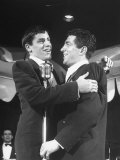 Comedian Jerry Lewis Singing with His Partner Dean Martin, at the Copacabana Premium Photographic Print by Ralph Morse