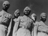 Portrait of a Sikh Soldiers at Indian Army Camp in the Desert Nr. the Great Pyramids Photographic Print by Margaret Bourke-White