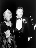 Actor Burt Reynolds with Wife Loni Anderson at Party Function Premium Photographic Print