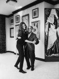 Actress Sophia Loren Dancing with Photographer Alfred Eisenstaedt in Her Villa Premium Photographic Print by Alfred Eisenstaedt
