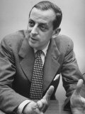 Author Alistair Cooke Participating in Life's Round Table Discussion on the Movies Premium Photographic Print by Martha Holmes