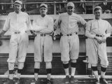 Undated of Baseball Players Ernie Shore, Babe Ruth, Carl Mays, and Dutch Leonard Premium Photographic Print by Loomis Dean