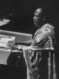 Kwame Nkrumah Speaking at United Nation General Assembly Premium Photographic Print by Ralph Crane