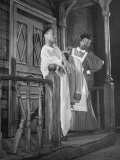 "Actors Fayard Nicholas and Pearl Bailey Performing in the Play ""St. Louis Woman"" Premium Photographic Print"