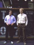 Actor Henry Winkler and Actor Director Ron Howard Metal Print