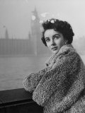 Actress Elizabeth Taylor Premium Photographic Print