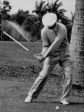 Golfer Ben Hogan, Demonstrating His Golf Drive Premium Photographic Print by J. R. Eyerman