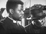 "Actor Sidney Poitier in Scene from Film ""Cry the Beloved Country"" Premium Photographic Print by Yale Joel"