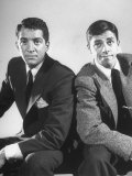 Comedian Jerry Lewis and Dean Martin Posing Side by Side Premium Photographic Print by Ralph Morse
