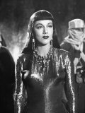 &quot;Atlantis&quot; Starring Maria Montez as Lustful Queen, Standing in Chamber of the Palace of Atlantis Premium Photographic Print by Peter Stackpole