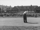 Ed Furgol, Sinking Final Put, and Wins the National Open Golf Tournament at Baltusrol Golf Club Premium Photographic Print by Peter Stackpole