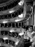 Audience in Elegant Boxes at La Scala Opera House Premium Photographic Print by Alfred Eisenstaedt