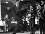 Comedian Jerry Lewis, Dancing to the Quartet's Music, at the Copacabana Premium Photographic Print by Ralph Morse