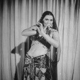 Egyptian Dance and Film Star Tahia Carioca Doing Belly Dance Premium Photographic Print by Bob Landry