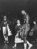 Kansas University Basketball Player Wilt Chamberlain Premium Photographic Print by Stan Wayman