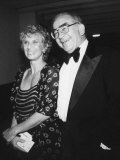 Actress Cloris Leachman Attending Benefit Event with Actor Ed Asner Premium Photographic Print by Ann Clifford