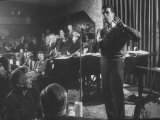 "Comedian, Mort Sahl Entertaining at a Night-Club Called ""Mister Kelly's"" Premium Photographic Print"