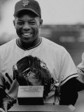 Baseball Player Willie Mays Posing for a Picture Premium Photographic Print