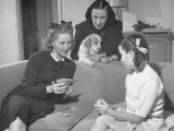 Actress Margaret O'Brien Playing Cards with Her Aunt and Mother Premium Photographic Print by Bob Landry