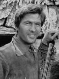 "Actor Fess Parker Starring in the Movie ""Davy Crockett"" Premium Photographic Print"