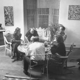 Painter Jackson Pollock Visiting with Guests Premium Photographic Print by Martha Holmes