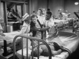 "Actor Sidney Poitier in Hospital Scene from Movie ""No Way Out"" Premium Photographic Print by Peter Stackpole"