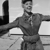 "Actress Doris Day in Costume on the Set of ""Calamity Jane"" Premium Photographic Print by Ed Clark"