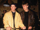 "Actors Mark Wahlberg and Leonardo Dicaprio at Film Premiere for ""The Basketball Diaries"" Premium Photographic Print"