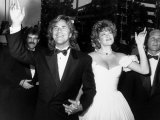 Married Actors Don Johnson and Melanie Griffith at Academy Awards Premium Photographic Print by Kevin Winter