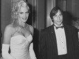 Actress Daryl Hannah with Boyfriend, Singer Jackson Browne at an American Cinematographers Dinner Premium Photographic Print by Kevin Winter