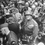 Gen. George Patton&#39;s Homecoming at End of WWII Premium Photographic Print by Martha Holmes