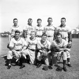 Philadelphia Phillies Baseball Team Premium Photographic Print by Ralph Morse