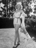 Full Length Picture of Actress Marie Mcdonald Wearing White Miniskirt Premium Photographic Print by Martha Holmes