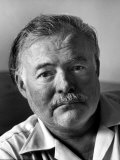 Portrait of Writer Ernest Hemingway Premium Photographic Print by Alfred Eisenstaedt
