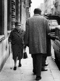 Argentine Author Julio Cortazar Walking Along Parisian Street Premium Photographic Print