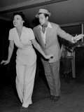 "Suzanne Ridgeway and Orson Welles Dancing During Rehearsal for Movie ""Citizen Kane"" Premium Photographic Print by Peter Stackpole"