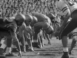 Ucla Football Line Shown in Ucla-Stanford Game Premium Photographic Print