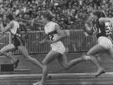 Women Runners Competing at the Olympics Premium Photographic Print