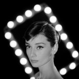 Portrait of Actress Audrey Hepburn Premium-Fotodruck von Allan Grant