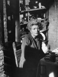 """Actress Shelley Winters, in a Scene from the Film """"The Diary of Anne Frank"""" Premium Photographic Print by Ralph Crane"""