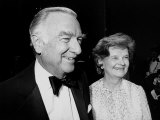 Television News Anchor Walter Cronkite and Wife Betsy Premium Photographic Print by David Mcgough