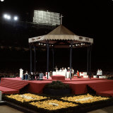 Pope Paul Vi Giving Mass and Sermon of Peace at Yankee Stadium Premium Photographic Print