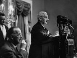 Author William Faulkner Making a Speech Upon Receiving the National Book Award Premium Photographic Print by Peter Stackpole