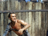 "Actor Kirk Douglas in a Scene from the Film ""Spartacus"" Reproduction photographique sur papier de qualité par J. R. Eyerman"