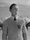 Hans Gerschwiler Smiling at the Winter Olympics Premium Photographic Print