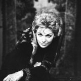 "Movie Actress Kim Novak with Siamese Cat During Filming of ""Bell, Book and Candle"" Premium Photographic Print by Ralph Crane"